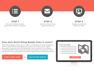 Email Setup Buddy Marketing WIP - Get Started call to action cta landing marketing