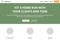 WIP devbase.io Marketing Home