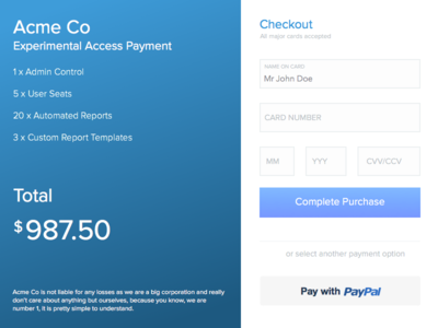 Daily UI - Day 002 (Credit Card Form) checkout form credit card daily ui dailyui