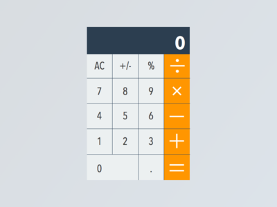 Daily UI - Day 004 (Calculator) dailyui daily ui calculator large contrast fat