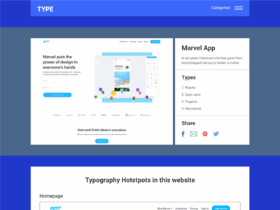 Typography Inspiration Details Page