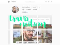 Instagram profile page clone in figma