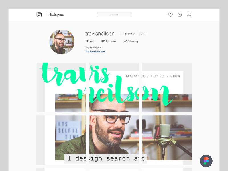 Daily design clone 01 --- Instagram Profile Page In Figma clone design ui