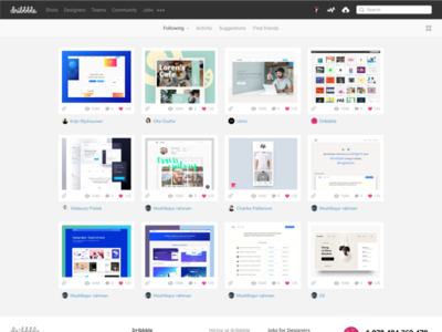 Daily design clone 02 --- Dribbble Homepage in Figma