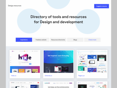 Personal Design Reource Website