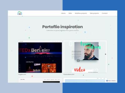 Portfolio Inspiration Website Design Refresh