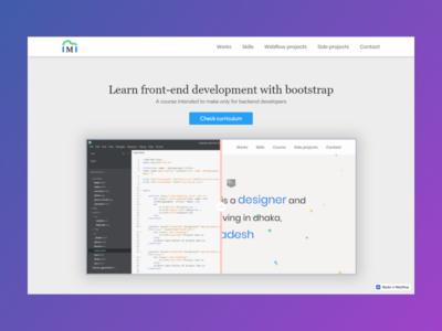 Front End Development Course Landing Page