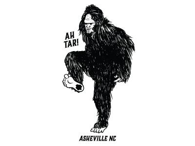 Tarheels - Asheville, NC tarheel asheville north carolina tarheels nc sasquatch bigfoot illustration
