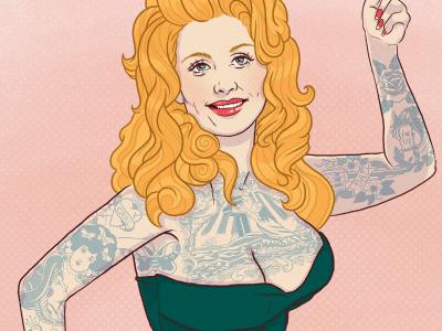 Tattooed Dolly Parton