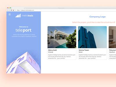 Landing Home Page card design cards ui real estate branding illustration landing page product design sales