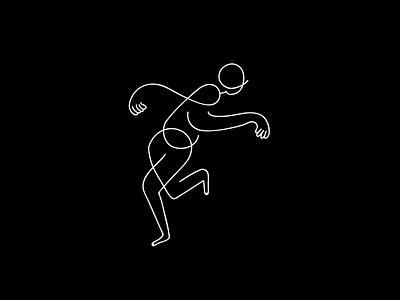 Dance character illustration icon line