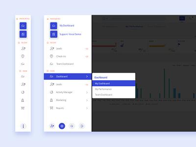 Side Navigation line icon ux navigation side panel menu design product design side navigation side menu app crm