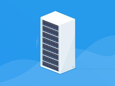 Working on website redesign for hosting company illustration website webdesign server cloud hosting redesign working on