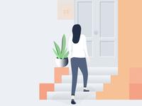 Door to Door Sales. Illustration design.