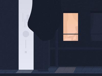 Creative illustration for our studio website. futuristic future window building house illustration conceptual design conceptual art conceptual house product illustration