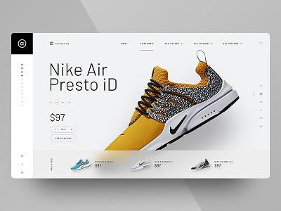Asos Sneakers Website minimal ux ui user interface website apparel