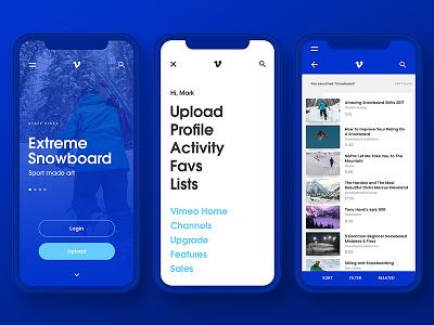 Vimeo concept - Mobile mobile interface mobile design visual design concept interface design ui ux vimeo