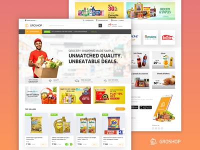 GroShop Website Landing Page