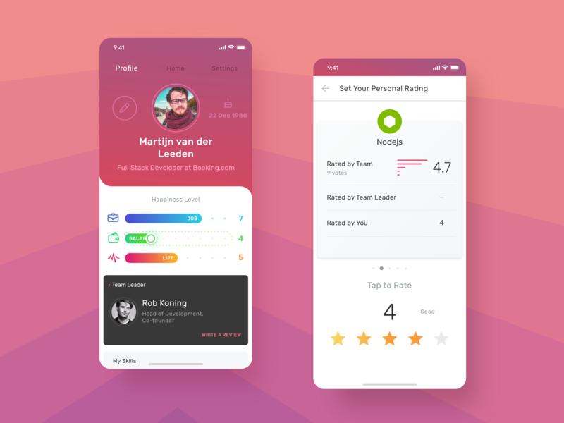 Are you proud to be a part of a corporation? app sketch corporate app nodejs slider design app design skills ratings profile design ui design