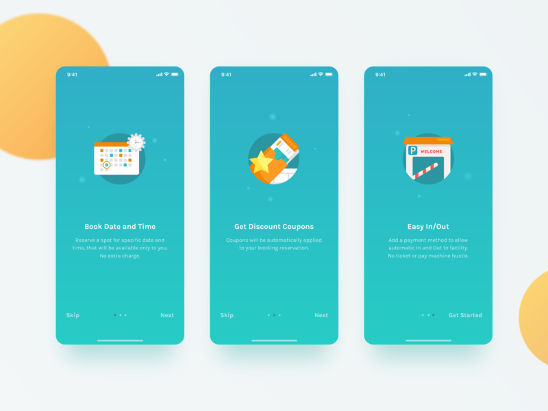 Onboarding - MParking app ui 2018 get started webapp iphone mobile app mobile ui illustration icons onboarding welcome