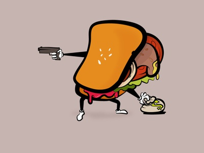 burger burgers vegan burger illustration illustrator