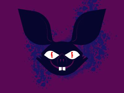 bat halloween bat skull nwo logo design vector illustration illustrator