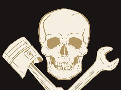 Czacha skull rider racer motorcycle motorbike bones
