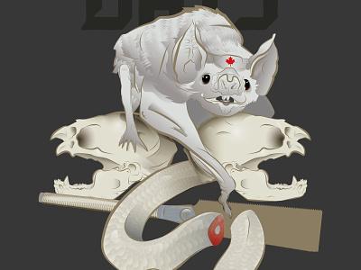 cancer bats fan poster skull music illustrator snake bat poster bats cancer
