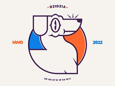 Dzidzia nwo dzidzia dog bones vector branding logo design illustration illustrator