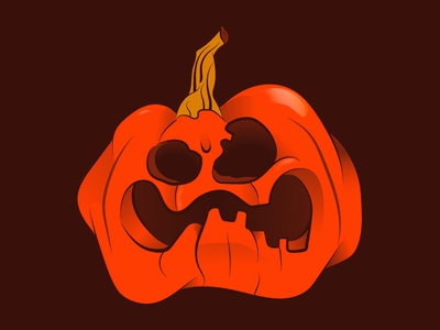 Pumpkinator ilustration illustrator pumpkin vector food