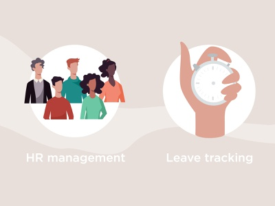 HR Management / Leave tracking teamwork team character concept character design remote work remote office working process work track tracking human resources hr management