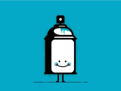 Mr Spray Can character simple illustration vector
