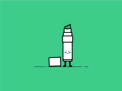 Mr P. Marker character simple illustration vector