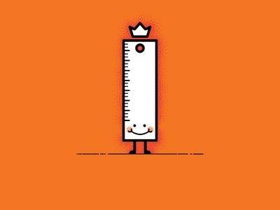 Mr R. Uler character simple illustration vector