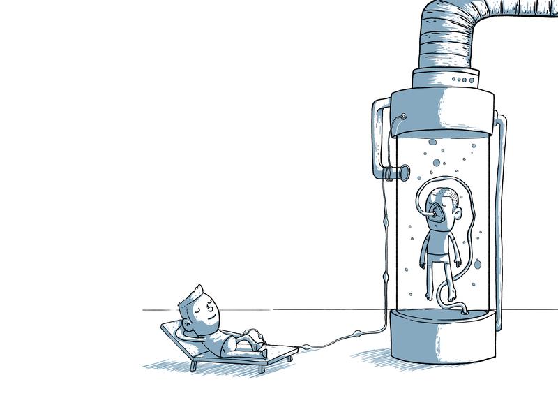 Inktober | Drain inktober character illustration