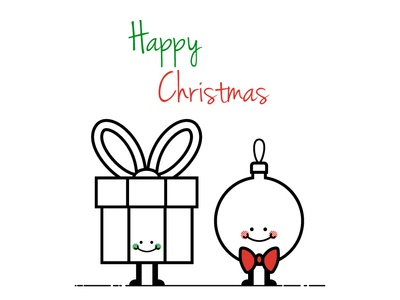Christmas illustration simple character vector