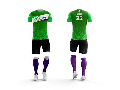 Catch 22 Green ultimate kit sports frisbee design