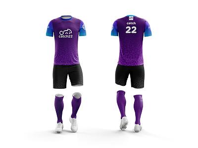 Catch 22 Purple logo ultimate sports frisbee kit design