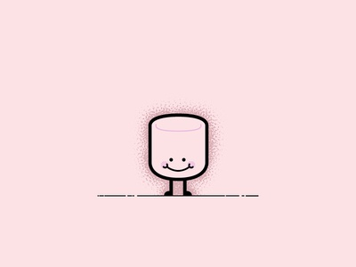 Mrs. Mallow sweets candy affinity illustrator simple vector design character illustration