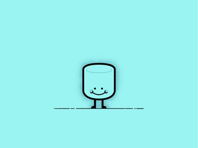 Mr. Mallow affinity illustrator candy sweet design simple character vector illustration