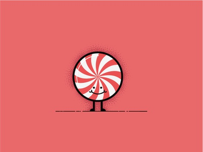 Peppermint illustrator affinity candy sweet design simple character vector illustration