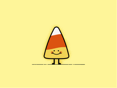 Candy Corn cute vector sweet design simple character illustration