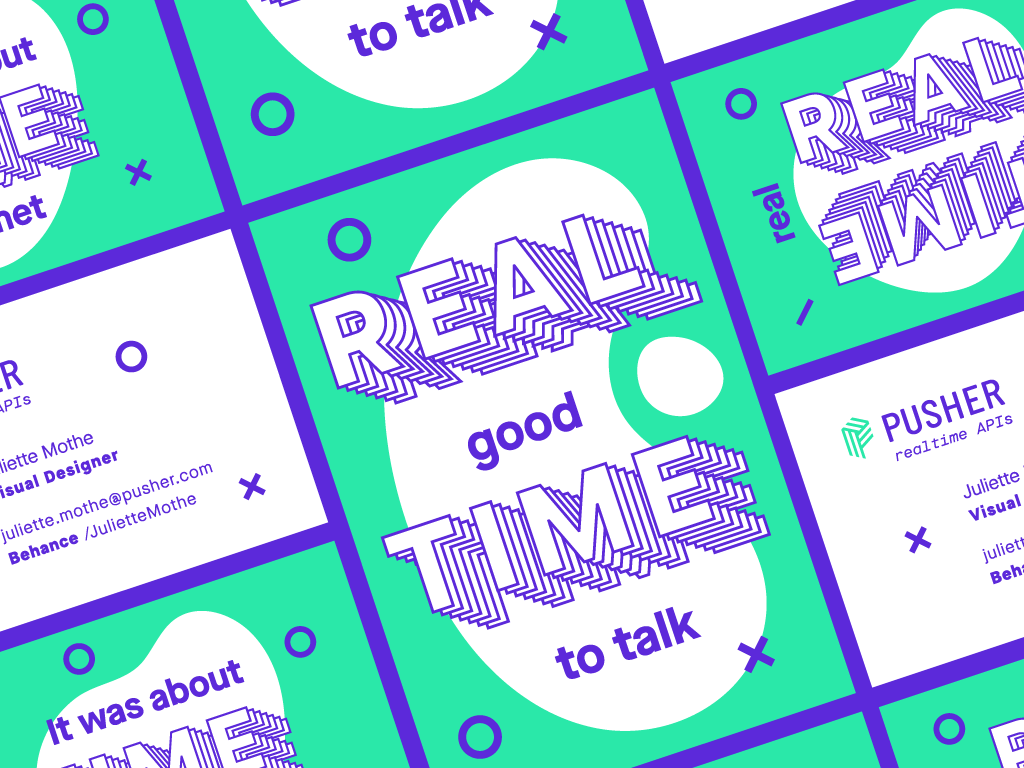 It's Brand Adventure Time! | Part 2 ✨ real time realtime playful green purple business cards