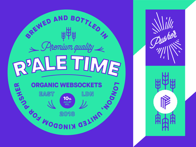 It's Brand Adventure Time!   Part 3 🍺 beer label label real time realtime goodie swag beer purple green