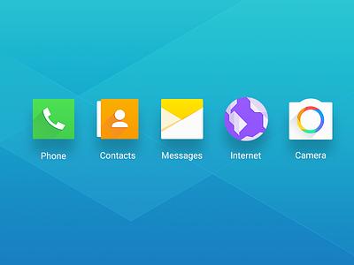Galaxy A7 2016 Icon flat icon