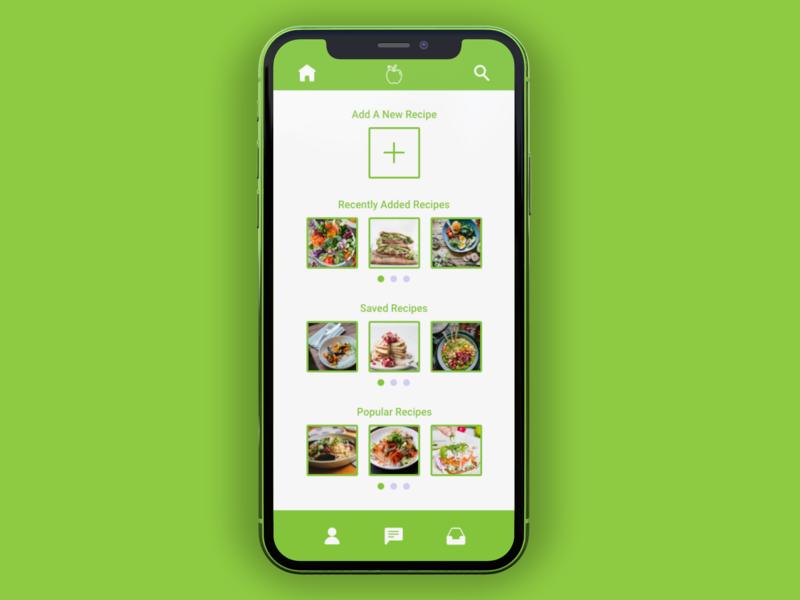 Recipe App recipe food healthy icon iphone app minimal iconography ui design