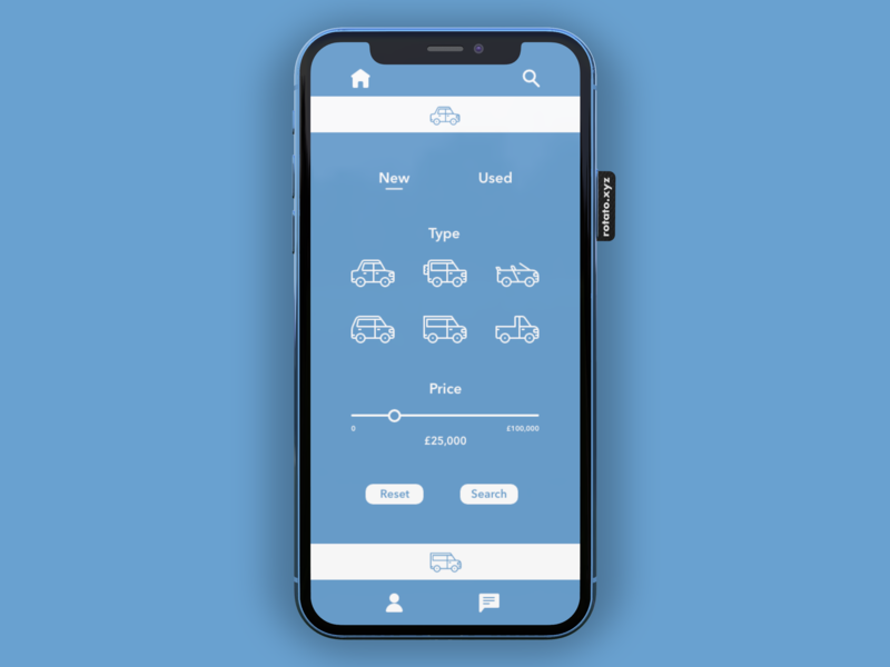 Car Buying App car iphone minimal app iconography ui design