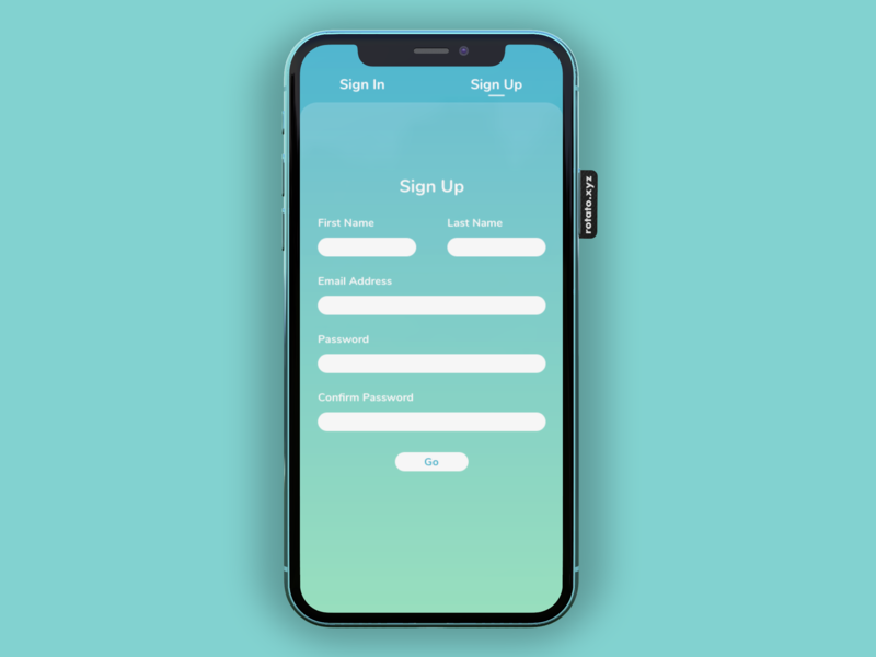 Sign Up signup iphone app minimal ui design