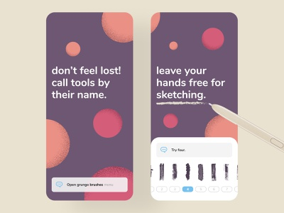 Call your tools out! ✏️📣 sketch digital pencil command voice product ux flat mobile app design ui