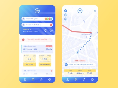 Where do i go next? Ⓜ️📍 maps trip planner gps transport porto metro ux ui product mobile gradient flat digital design app
